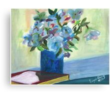 Flowers on a vase - Oil on Canvas painting  Canvas Print