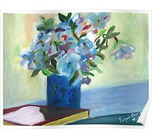 Flowers on a vase - Oil on Canvas painting  Poster