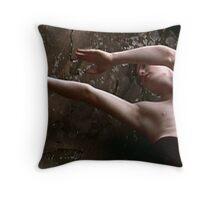 Tim at the Penwood cliffs Throw Pillow