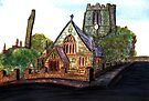 172 - SAINT CUTHBERT'S CHURCH, BLYTH - DAVE EDWARDS - WATERCOLOUR - 2007 by BLYTHART