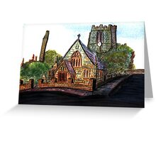 172 - SAINT CUTHBERT'S CHURCH, BLYTH - DAVE EDWARDS - WATERCOLOUR - 2007 Greeting Card