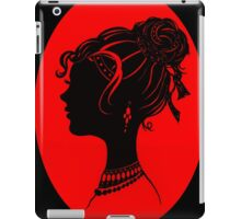 Red Vanity , Fashion Goth Silhouette Beauty Paper Cutout Fashion illustration Lady iPad Case/Skin