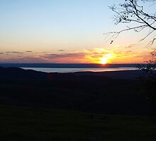 From Hancocks Lookout South Australia, Sunset  by Virginia McGowan