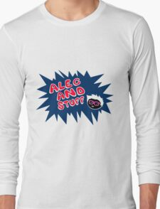 New alecandstuff Logo (Shocking Blue) Long Sleeve T-Shirt