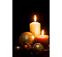 Christmas Candles Photographic Print