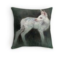 A Forest Ghost Throw Pillow