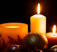 Candles and Christmas by gfairbairn