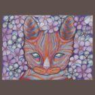 Flower Cat Tee by fesseldreg