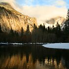 Half Dome in the Mist Sunset  by Peggy Berger