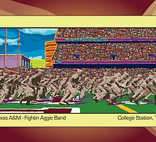 Texas A&M Fightin Aggie Band by Alan Kalish