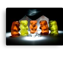 Gummy Bear Photography - Hello Campers! Canvas Print
