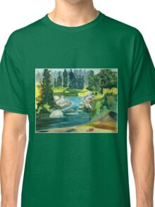 Green River -  Oil On Canvas Painting Classic T-Shirt