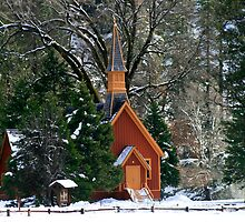 Chapel at Yosemite by Peggy Berger
