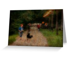 Trolley Trail Greeting Card