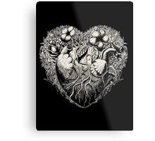 Foliage Heart II Metal Print