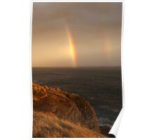 cliff rainbows Poster