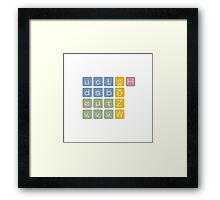 Elementary Particles Framed Print