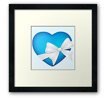 Valentine Blue Heart Framed Print