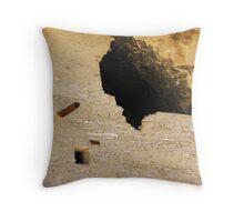 Gila Cliff Dwellings Entrance Throw Pillow