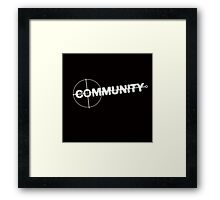 Community: Modern Espionage Framed Print