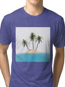 tropical island Tri-blend T-Shirt