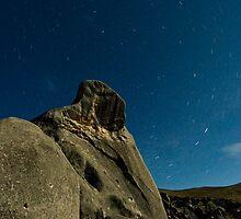 Castle Hill, Star Trails. by Michael Treloar