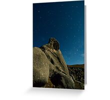 Castle Hill, Star Trails. Greeting Card
