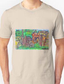 GREEN & RED SCENE Unisex T-Shirt