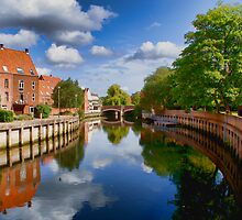 River Wensum at Fye Bridge Norwich UK by Mark Snelling