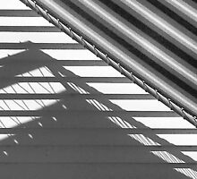 Shadow and awning, the Moorings by Roz McQuillan