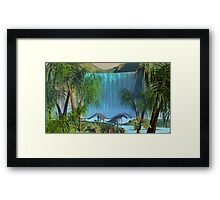 Prehistoric Waterfall. Framed Print
