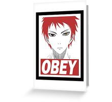 Akashi Seijuro Obey Greeting Card