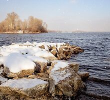 Snow Over the River by MaxalTamor