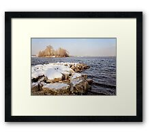 Snow Over the River Framed Print