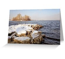 Snow Over the River Greeting Card