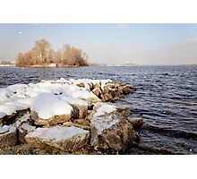 Snow Over the River Photographic Print