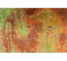 Rust Metal Texture Photographic Print