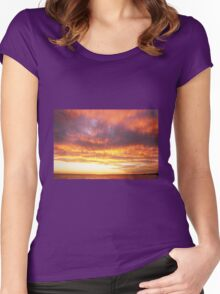 Golden Clouds Women's Fitted Scoop T-Shirt