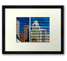 Upon Reflection: Downtown Framed Print