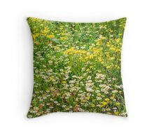 Chamomile and Dandelion Throw Pillow