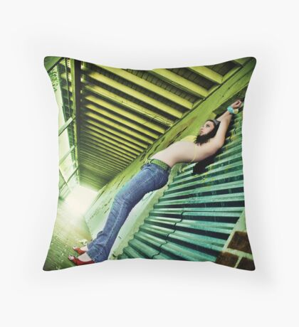 along those lines Throw Pillow