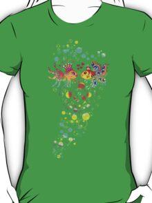 Love Fish, Bubbles, Hearts, Water, T-Shirt