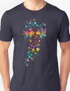 Love Fish, Bubbles, Hearts, Water, Unisex T-Shirt