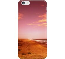 sunset over the beach iPhone Case/Skin