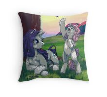 Evening with Sweetie belle Throw Pillow
