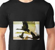Magpie Geese in Flight Unisex T-Shirt