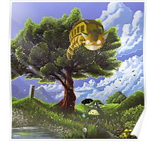 Totoro and Catbus Poster