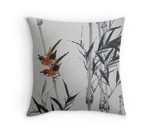 Black Bamboo signed Throw Pillow
