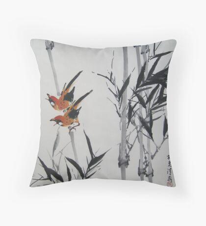 Black Bamboo signed Throw Pillow