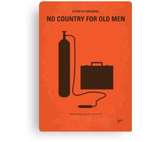 No253 My No Country for Old men minimal movie poster Canvas Print